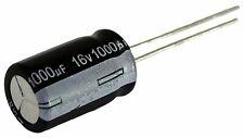 5 condensateurs chimique électrolytique 1000µF 1000uF 16V radial WH 105°C THT