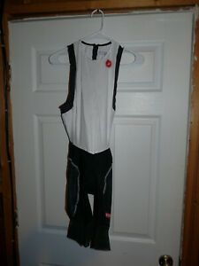 New Castelli Mens Free Tri ITU Suit Black and White Large