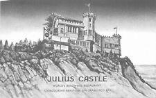 Artist impression Julius Castle Restaurant San Francisco California 12289