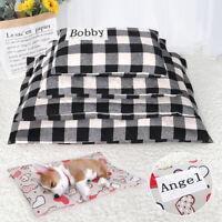 Lit pour chien et chat avec nom Personnalisé couchage Coussin Tapis Panier S-XL