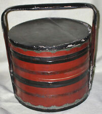 Chinese Late Qing (1900) Very Large Lacquered Wood and Bamboo Storage Box