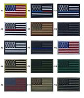 """USA American Flag Patch 2"""" x 3"""" Hook & Loop Choice Military Tactical BEST VALUE"""