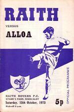 RAITH v ALLOA 1973/74 LEAGUE
