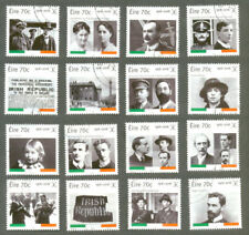 Ireland-Easter Rising 1916-2016 set of 16 fine used -square format-military