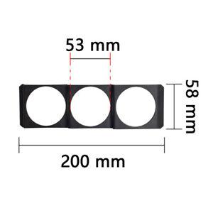 "1PC Universal 2""/52mm Flat Triple Gauge Meter Pod Holder Radio Din Panel Black"