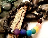 Chakra Stone LAVA Bead Healing Grade A+++ Meditation Bracelet Yoga Essential Oil