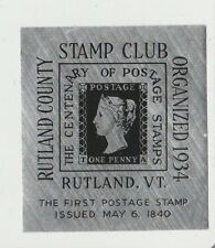Rutland County VT Philaletic Society Exhibition Convention Label 1940