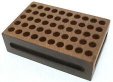 Walnut Wood Reloading Block - Fits up to 357/38 Spl one side / 45 Caliber Other