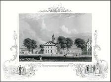 HARVARD UNIVERSITY 1850 Cartouche Engraving CAMBRIDGE for Grads ???