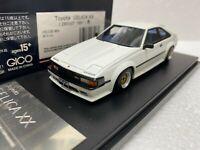 1/43 HI STORY HS106WH TOYOTA CELICA XX 2800GT 1981 CUSTOMIZED model car WHITE