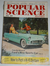 Popular Science Magazine Ford's New Sports Car October 1954 120514R