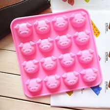Pig Shape Chocolate Mold Cake Decoration Silicone Jelly Candy Ice Mold SE