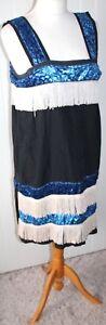 Roaring 20's Charleston Style Tassled Dress Costume - Size L UK 14