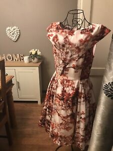 Ladies Ted Baker Silk BARISH Cherry Blossom Dress 10