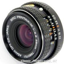 MINT SMC Pentax-M 1:2.8 28mm F2.8 WIDE-Angle Lens PENTAX K Film & DIGITAL SLR ft