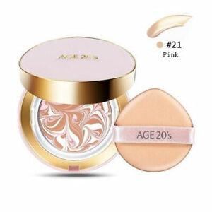 Store AGE 20'S ESSENCE COVER PACT MOISTURE PINK #21 SPF50+ / PA+++  USA *2 Pcs