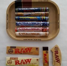 RAW Mini Rolling Tray Gift Set  CYCLONES Pre-Rolled Cones RAW Papers & RAW Tips