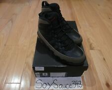 NIKE AIR JORDAN 9 RETRO BLACK VARSITY RED LIGHT OLIVE 2012 SIZE 8 (302370-020)