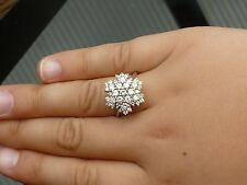 Stunning NEW 18ct white gold 2.01ct Diamond Colour E snow flake cluster ring