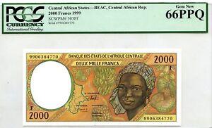 EQUATORIAL GUINEA 2000 FRANCS 1999 PICK 503 Ng LUCKY MONEY VALUE $144
