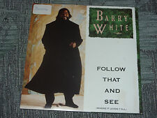 """Barry White:  Follow that and see     7""""  MINT UNPLAYED VINYL"""