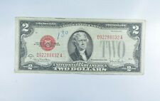 1928-G Red Seal $2.00 United States Note - Legal Tender - Historic *351