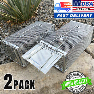 2PACK Humane Live Rat Trap Cage Mouse Trap That - Safe Sensitive and Effective