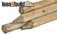 8 pack 4wire Wood Post round 2.4 x 87mm 8ft