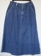 Bill Blass Jeans Long Modest Gored Denim Jean Skirt 100% Cotton 12P