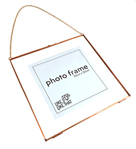 XXL Rose Gold Photo Frame, Wall Hanging Chain, 30cm x 30cm, Factory Second