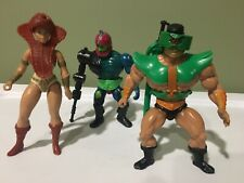 Vintage He Man MOTU Lot Masters Of The Universe. Lockjaw, Teela, & Triclops