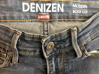 Levi's Denizen Womens Dark Wash Modern Boot Cut Stretch Jeans - Size 2M