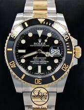 Rolex Submariner 116613LN Oyster 18K Yellow Gold & SS Black Ceramic Bezel  *MINT