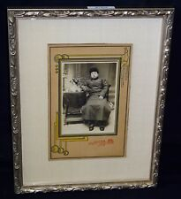 """1900 Chinese Framed B&W Photo """"Man of Means"""" by Ting Chang of Dairen (Mil)"""