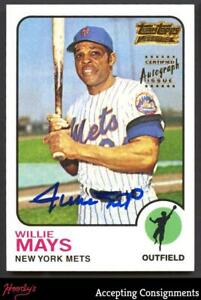 2001 Topps Team Topps Legends Autographs #TT1F Willie Mays '73 AUTO METS