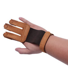 Cow Leather Archery Finger Guard Protective Glove Tab Right Hand Bow Hunting