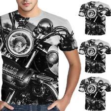3D Mechanical Print Mens Short Sleeve Tee Pop T-Shirt Sport Casual GYM Tops New~