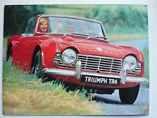 Prospekt Triumph TR 4, 2.1963, 10 Seiten, deutsche Sprache