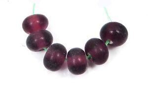 Lampwork Handmade Plain Color Spacer Rondelle Beads (6)  - Choose Color