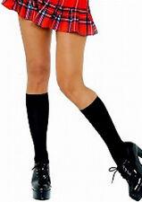 Sexy Black Opaque Knee High Socks - School Girl Sexy Adult Fancy Dress