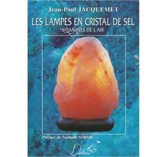"Les lampes en cristal de sel ""Vitamines de l'Air"" par Jean-Paul Jacquemet"