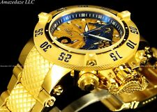 New Invicta Men Sea Horse Subaqua Noma III Swiss Chrono 18K Gold Plated Watch