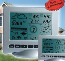 Solar Powered Professional  Wireless Weather Station with Two Base Stations