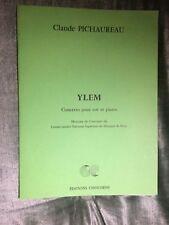 Ylem Claude Pichaureau Concerto pour cor et piano partition éditions Choudens