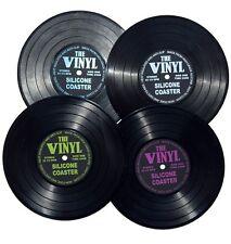 Untersetzer Glasuntersetzer Vinyl LP Schallplatte Silikon Disc Coaster Invotis
