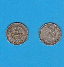 Gertbrolen Louis-Philippe Ier  1/4 de Franc argent  1837 Lille