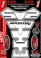 Suzuki SV650 SV1000 White Motorcycle Tank Pad Tankpad Motografix Gel Protector