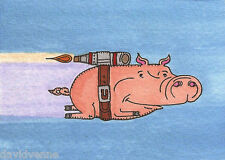Venne Canvas Giclee ACEO Print- When Pigs Fly