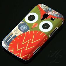 Samsung Galaxy Ace 2/i8160, funda rígida móvil, funda protectora, funda, protección estuche lechuza rojo Owl