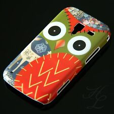 Samsung Galaxy ACE 2 / i8160 Hard Handy Case Schutz Hülle Etui Eule Rot Owl